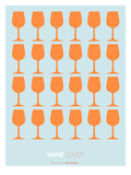Wine Lover Orange Posters by  NaxArt