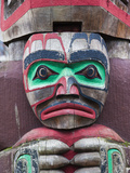Canada, British Columbia, Vancouver Island, Victoria, First Nation Totem Pole, Thunderbird Park Photographic Print by Walter Bibikow