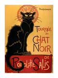 Tournée del gatto nero, ca. 1896 Stampa di Théophile Alexandre Steinlen