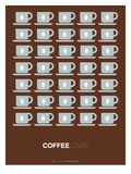 Brown Coffee Poster Prints by  NaxArt
