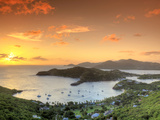 Caribbean, Antigua and Barbuda, English Harbour from Shirley's Heights Reprodukcja zdjęcia autor Michele Falzone
