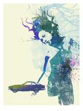 Ferrari Lusso Girl Poster von  NaxArt
