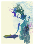 Ferrari Lusso Girl Posters by  NaxArt