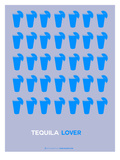 Blue Tequila Shots Prints by  NaxArt