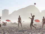 Beach Soccer or Football, Copacabana Beach, Copacabana, Rio De Janeiro, Brazil Photographic Print by Peter Adams