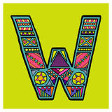 Letter W Posters by Emi Takahashi