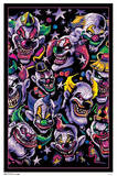 Clown Universe Fantasy Blacklight Poster Posters