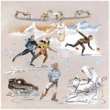 Les Patineurs Posters by  Lizie