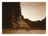 Edward S. Curtis - Navajos, Canyon De Chelly, c.1904 Plakát