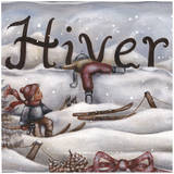 Hiver Ski Art by Stephanie Holbert