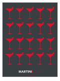 Martini Lover Red Posters by  NaxArt