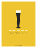 Beer Glass Yellow Poster af  NaxArt