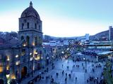 Iglesia San Francisco, Baroque Architecture, 18 Century, Plaza San Francisco, La Paz, Bolivia Photographic Print by John Coletti