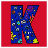 Letter K Posters by Emi Takahashi