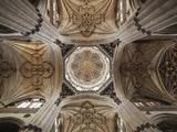 Spain, Castilla Y Leon Region, Salamanca Province, Salamanca, Salamanca Cathedrals, Ceiling Photographic Print by Walter Bibikow