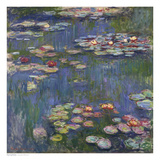 Water Lilies (Nymphas), c.1916 Arte por Claude Monet