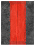 Grey and Red Abstract 5 Prints by  NaxArt
