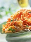 Fusilli with Tomato Sauce Fotografisk tryk