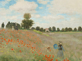 Poppy Field, Near Argenteuil, c.1873 Plakat av Claude Monet