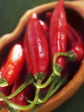 Red Chillies in a Small Dish Photographic Print by Bernd Euler