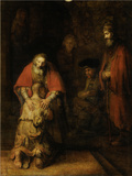 Return of the Prodigal Son, c. 1669 Plakater af Rembrandt van Rjin