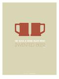 Two Beer Mugs Prints by  NaxArt