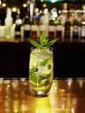 A Glass of Mojito on a Bar Photographic Print by Frank Wieder