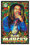 Bob Marley Music Blacklight Poster Photo