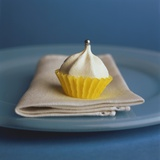 Small Meringue in Yellow Paper Case Photographic Print by Dagmar Morath