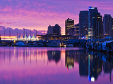 Canada, British Columbia, Vancouver, City View and Canada Place from Coal Harbour Photographic Print by Walter Bibikow