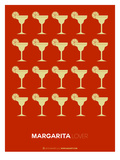 Yellow Margaritas Brown Poster Print by  NaxArt