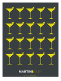Martini Lover Yellow Prints by  NaxArt