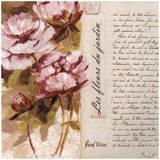 Fleurs Mauves Jardin Print by Pascal Cessou