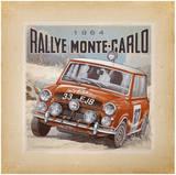 Rallye Monte-Carlo Poster by Bruno Pozzo