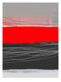 Abstract Stripe Theme Red Posters by  NaxArt