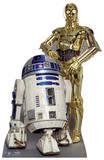 The Droids (R2-D2, C3P-O) Silhouette en carton