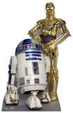The Droids (R2-D2, C3P-O) Pappfiguren