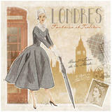 Mode Londres Posters by Bruno Pozzo