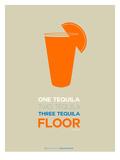 Orange Tequila Shot Affiches par  NaxArt