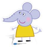 Emily Elephant Silhouettes découpées en carton