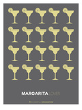 Yellow Margaritas Grey Poster Prints by  NaxArt