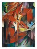 Räven Poster av Franz Marc