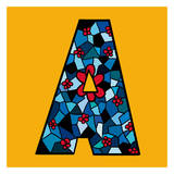 Letter A Prints by Emi Takahashi