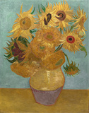 Sunflowers, c.1889 Art by Vincent van Gogh