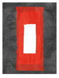 Grey and Red Abstract 4 Posters by  NaxArt