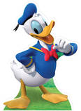 Donald Duck Pappfigurer