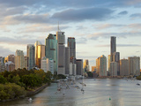 Brisbane Skyline, Queensland, Australia Photographic Print by Peter Adams