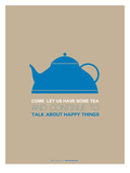 Tea Poster Blue Posters by  NaxArt