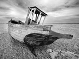 Infrared Image of the Old Fishing Boat, Dungeness, Kent, UK Photographic Print by Nadia Isakova
