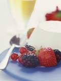 Panna Cotta with Fresh Berries Photographic Print by Sam Stowell